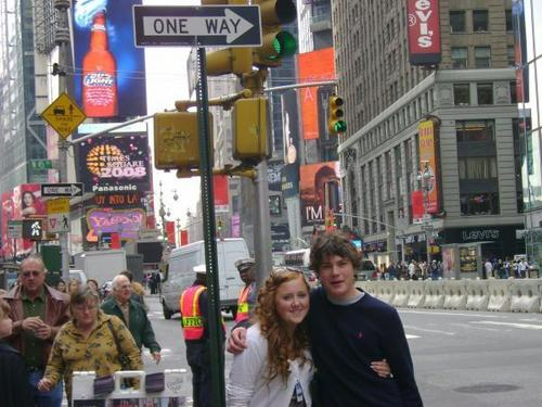 Rebecca and Dudley Times Sq. 2008