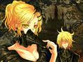 Rin and Len vampire