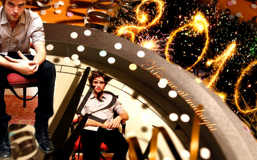 Robert Pattinson New Year 2010 Wallpaper