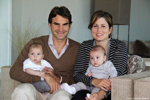 Roger, Mirka and twin girls