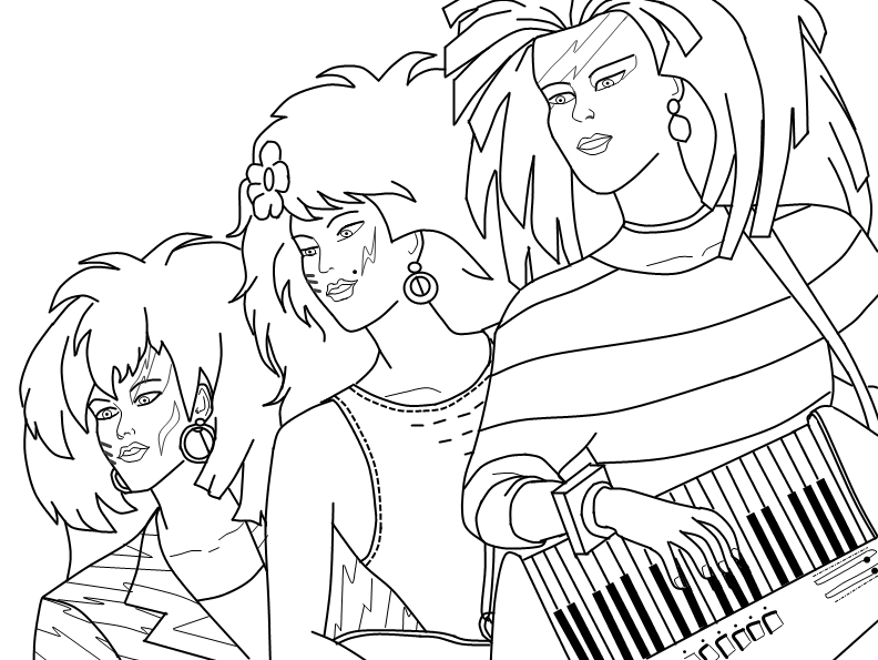 Jem Coloring Pages
