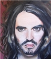 Russell brand painting in oil.