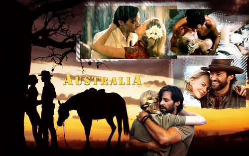 Sarah and Drover - australia-a-baz-luhrmann-film Wallpaper