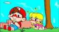 She loves me or not? - mario-and-peach fan art