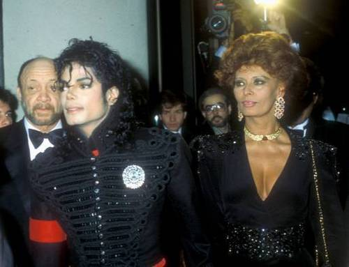 Sophia Loren and Michael Jackson