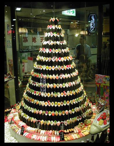 Sushi Weihnachten baum