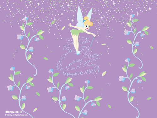 disney wallpaper possibly containing a sign called tinkerbell