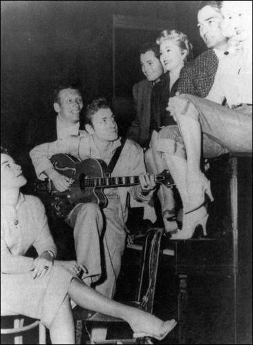"""Untamed Youth Caste"" with Mamie transporter, van Dorn & Eddie cochran"