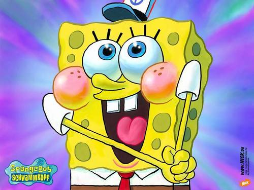 Spongebob Squarepants wallpaper containing anime titled happy sponge!
