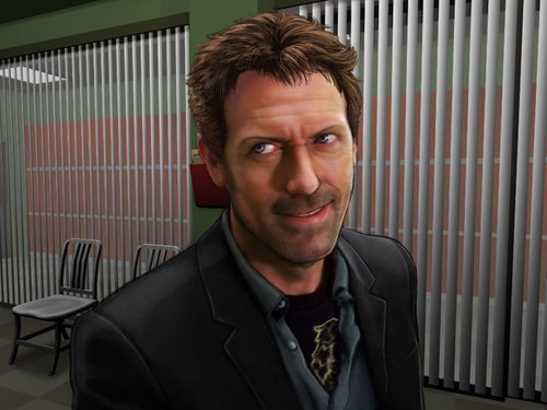 hugh laurie -House M.D- picture of house game for PC