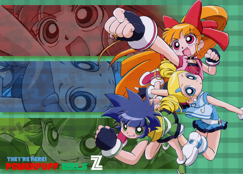 powerpuff girls Z achtergrond with anime called ppgz
