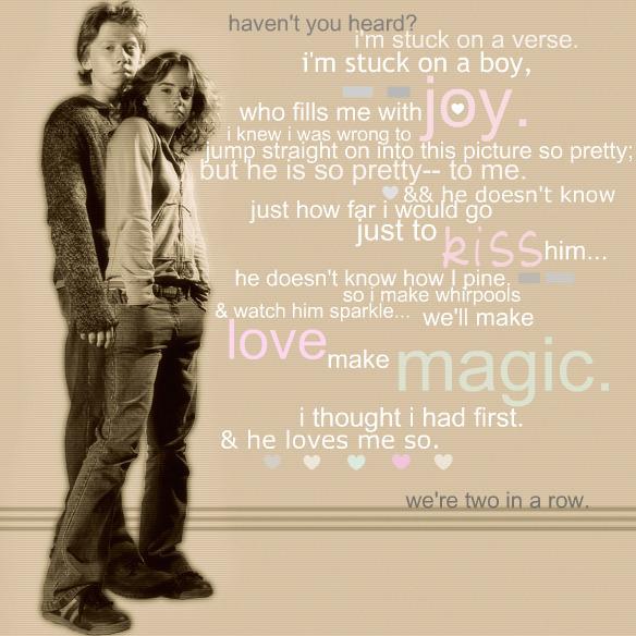 ron + hermione. - hermione-granger fan art