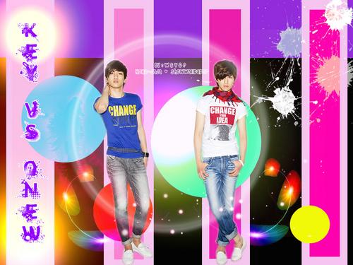Shinee kertas dinding titled Shinee