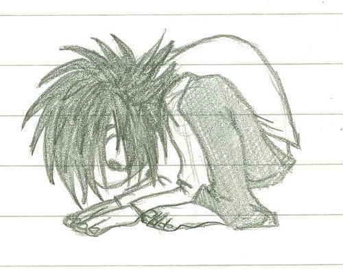 Death Note achtergrond probably with a sign entitled the floor is very interesting