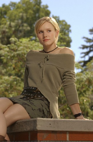 Veronica Mars wallpaper containing bare legs and a hip boot titled veronica mars photoshoot