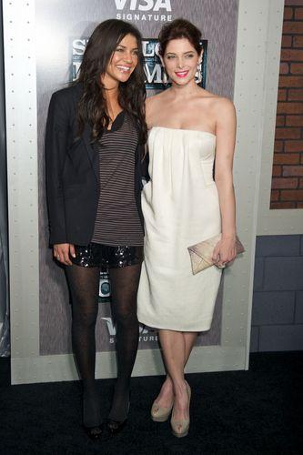 Ashley Greene and Jessica Szohr @ Sherlock Holmes premiere