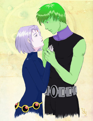 Teen Titans Couples Bb And Raven