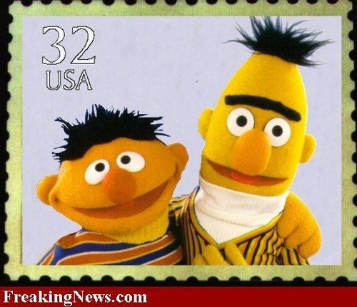 Bert and Ernie Stamp