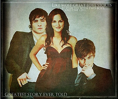 Nate/Blair/Chuck 壁纸 possibly containing 日本动漫 and a portrait titled CBN Ed, Leighton, Chace
