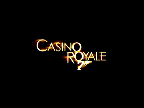James Bond fond d'écran with a sign entitled Casino Royale