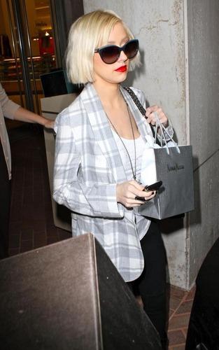 Christina Out in LA