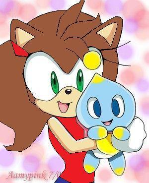 Cleo The Racoon and Lilly The Chao