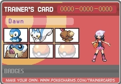 Dawn's Trainer Card