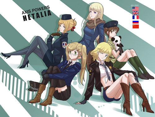 Hetalia wallpaper probably containing anime entitled Fem! Allies