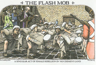 Female Convicts Rebelling, Mooning - bushrangers photo