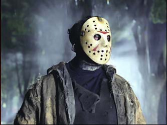 Filem Seram kertas dinding possibly with a surcoat and a tabard entitled Freddy VS Jason