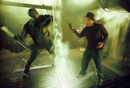 Horror films achtergrond with a fontein entitled Freddy VS Jason