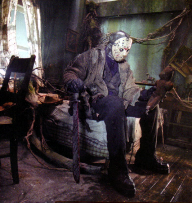 Horror Movies wallpaper probably with a drawing room and a fire entitled Freddy VS Jason