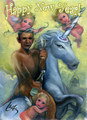 Happy New Year from Obama and the Unicorn - tfw-the-friends-whatever fan art