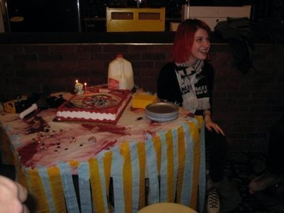 Paramore wolpeyper containing a hapunan mesa and a pab titled Hayley William's Birthday Party