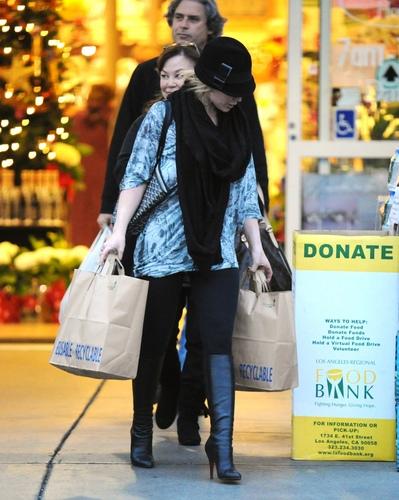 Hilary Duff Barneys New York 12/27/09