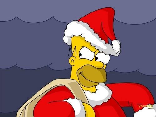 Homer Santa Claus