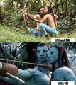 How Avatar would look with and without CGI - avatar photo
