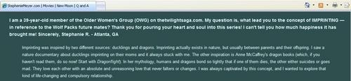 Critical Analysis of Twilight wolpeyper titled Imprinting was inspired sa pamamagitan ng ducklings and dragons.