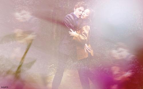 Jim and Kaley as Edward and Bella