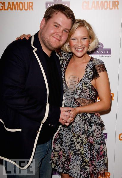 Joanna Page and James Corden