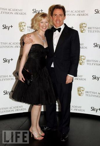 Joanna Page and Rob Brydon
