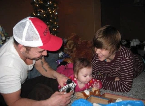 Justin with family and friends