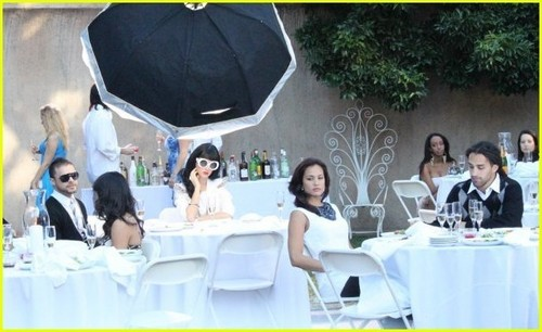 Katy Perry & Timbaland at 'If We Ever Meet Again' Video Shoot