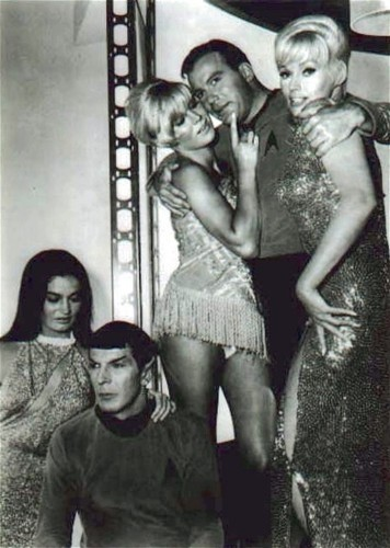 Kirk and Spock and...Mudd's women!