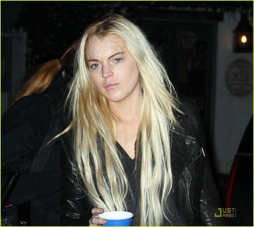 Lindsay at a salon in West Hollywood