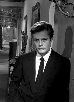 film classici wallpaper containing a business suit, a suit, and a two piece titled Marcello Mastroianni