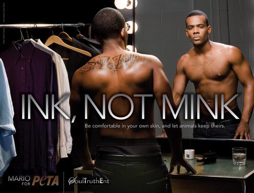 Mario's Sexy 'Ink Not Mink' PETA Ad
