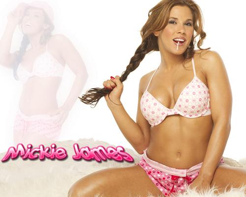Mickie James 바탕화면 probably with a bikini entitled Mickie James