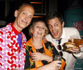 Mink Stole, John Waters & Johnny Knoxville