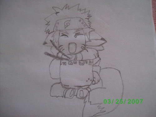 Naruto chibi- my drawing